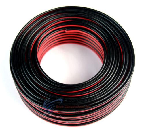 100/' FT 14 Gauge Red Black Stranded 2 Conductor Speaker Wire Car Home Audio