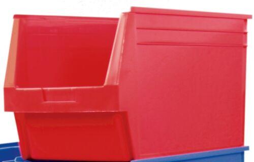 Sichtlagerkästen Stapelboxen Lagersichtkästen Sichtlagerbox 236x160x130mm rot
