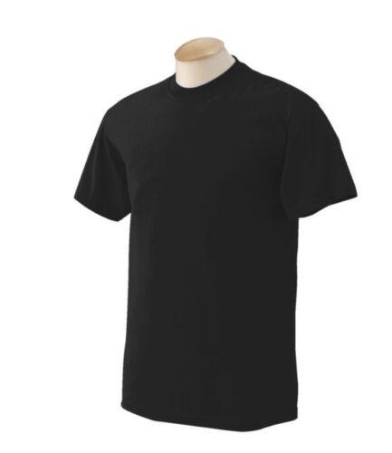New Men/'s Gem Rock Solid Black Crew Neck T-Shirt Size 4X-Large Brand New!