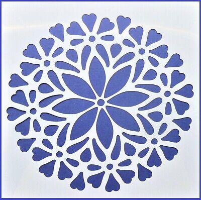 Flexible Stencil *FLOWER MANDALA* Pattern Embossing Card Making 14cm x 14cm