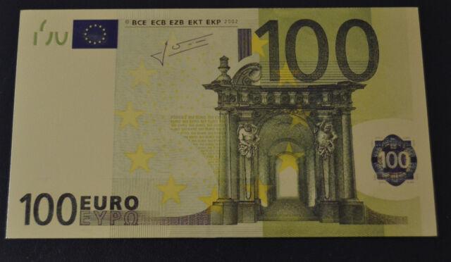 100 Euro € Banknote Geldschein mit Zertifikat 24k Goldschein neu Farbapplikation