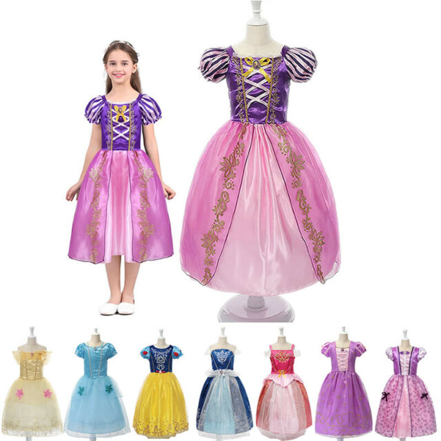 Princess Girls Cinderella Snow White Disney Cosplay Fancy Dress Party Costumes
