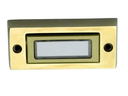 Klingeltaster Taster massiv Metall Messing mit Namensschild Klingeldrücker K2
