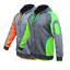 Hi-Vis-Fleece-Jacket-Full-Zip-Hoodie-Jumper-Panel-with-Piping-Body-Dark-Marble thumbnail 4