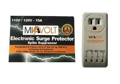 9 PACK Refrigerator 1800W Voltage Brownout Appliance Surge Protector