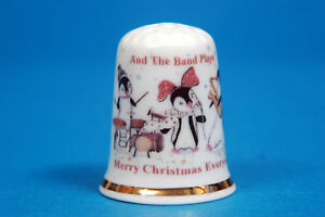 Merry Christmas From Mickey and Minnie on Top of The Chimmy China Thimble B//184
