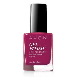 Avon-GEL-FINISH-7-in-1-Nail-Enamel-Very-Berry-Creme-Finish-New-in-Box