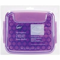 Wilton Plastic Organizer Case Storage Box For 55 Decorating Tips White/purple