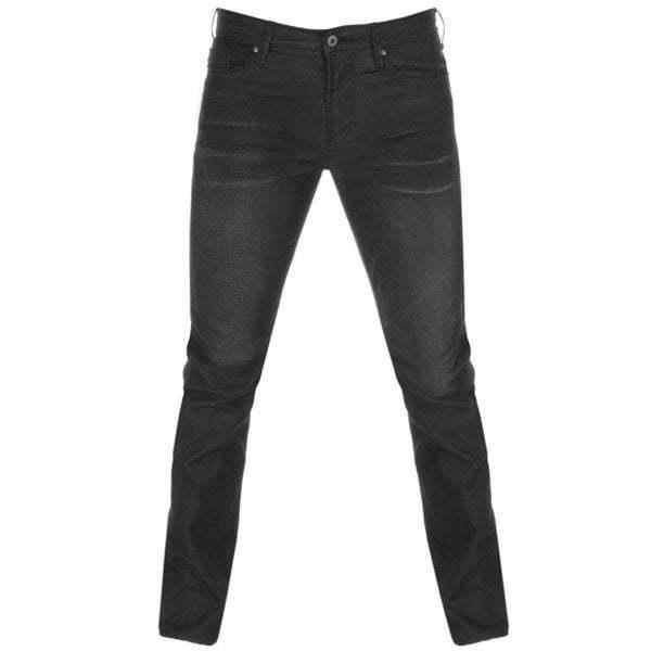 Emporio Armani J06 Slim Fit schwarz Washed Denim Jeans 8N1J06 1D0IZ