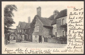 Guildford-Surrey-Castle-Arch-amp-Cottages-Castle-Hill-1903-Haslemere-Postmark