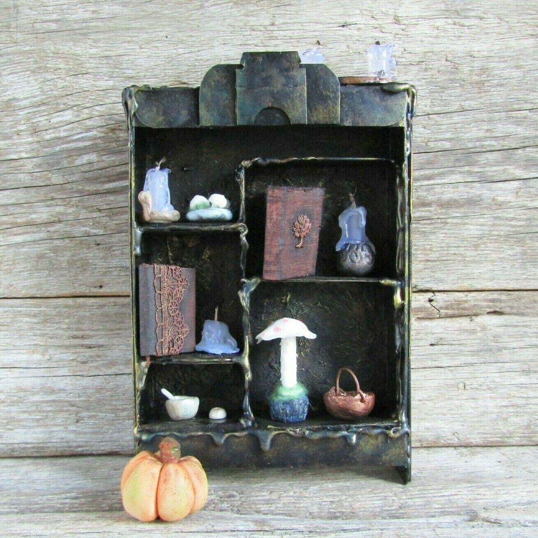 Miniature witch dollhaus accessories, Halniedrigeen Miniatures mini wizard Handmade