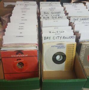 Mixed lot grab bag of 20 45 rpm records.  Rock, Pop, R&B, Country  Free Ship US