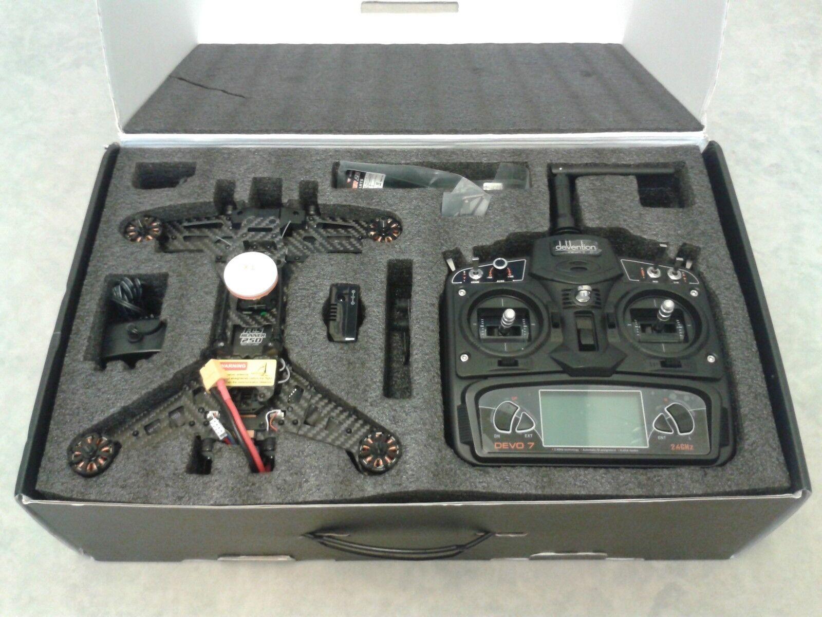 WALKERA Runner 250 RC Quadcopter Racing Drone FPV Camera 5.8GHz DEVO 7 Tx RTF