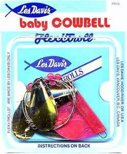 NEW-Les-Davis-Giant-Standard-Baby-Cowbell-Fishing-Trolls-Select-Color-amp-Size