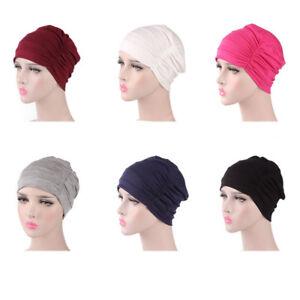ee783dd7b01 New Indian Muslim Caps Women Turban Hats Cancer Chemo Beanie Head ...