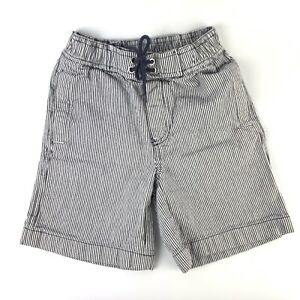 Hanna-Andersson-Boys-Shorts-Sz-5T-Black-White-Stripe