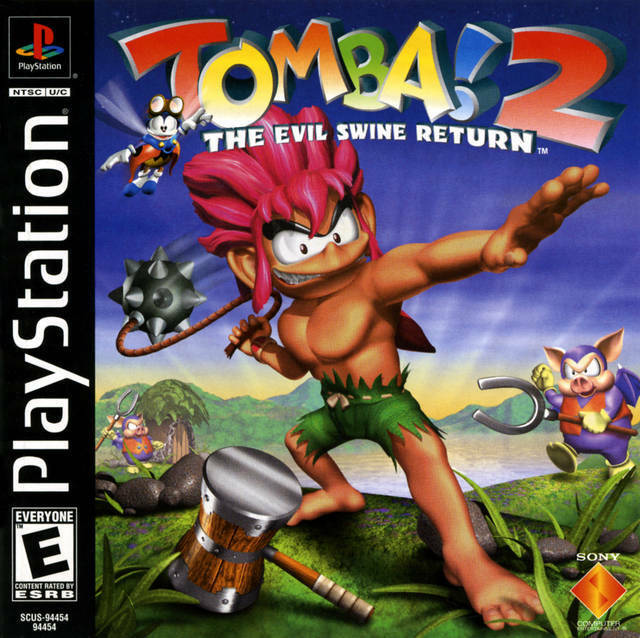 Tomba 2 The Evil Swine Return PS1 Great Condition Fast Shipping