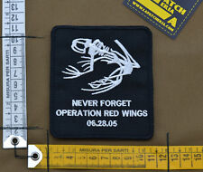 "Ricamata / Embroidered Patch ""Never Forget Op Red Wings"" with VELCRO® brand hook"