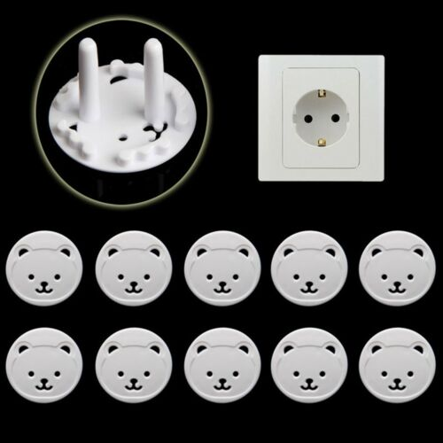 10pcs EU Power Socket Outlet Plug Protective Cover Baby Child Safety Protectors
