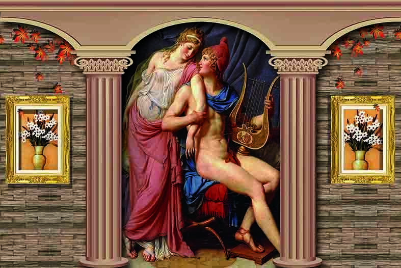 3D Europäische Europäische Europäische Malerei 8935 Tapete Wandgemälde Tapeten Bild Familie DE Jenny | Feinbearbeitung  |  d550a7
