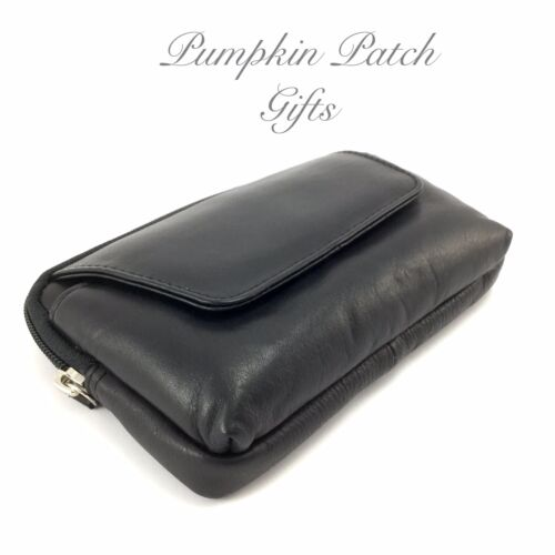 Leather Holiday Bag Travel Security Pouch Passport Wallet Belt Purse RFID
