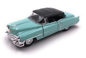 Coche-a-Escala-Cadillac-Eldorado-Oldtimer-Turquesa-Auto-1-3-4-39-con-Licencia