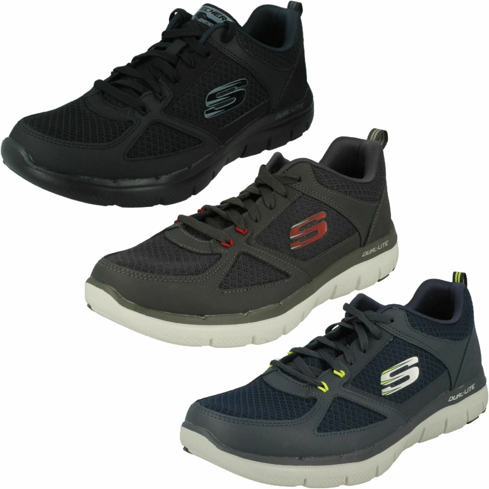 Mens Flex Advantage 2.0 Lindman 52189 Lace Up Trainers By Skechers Retail