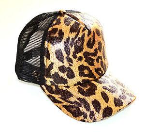 CAPPELLO-BERRETTO-donna-NERO-ORO-leopardato-dorato-rete-ragazza-visiera-E15