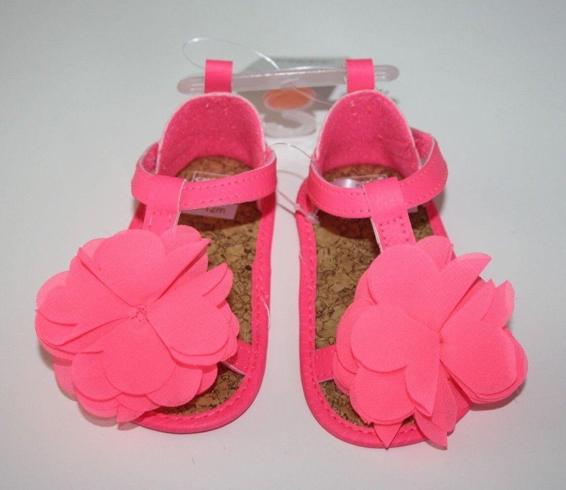 Carter's Flower Coral Pink Sandals Flip