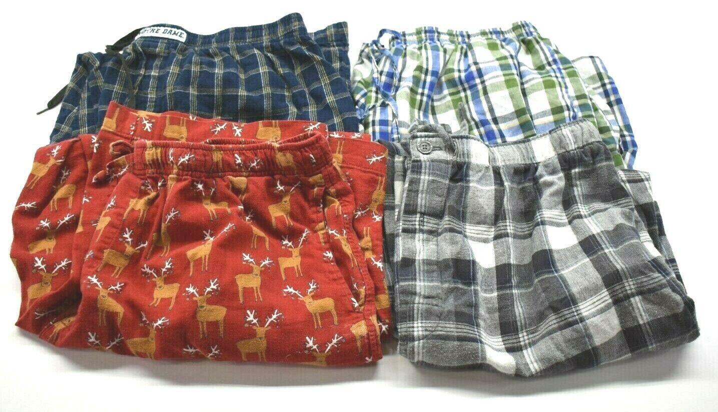 Lot of 4 GAP Hanes Notre Dame Men's XL Sleepwear Home Lounge Pajama Pants Shorts