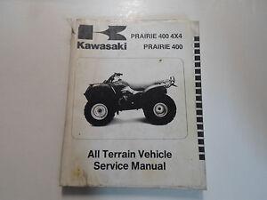 1997 1998 Kawasaki Prairie 400 4x4 Prairie 400 Atv Service Shop Repair Manual X Ebay