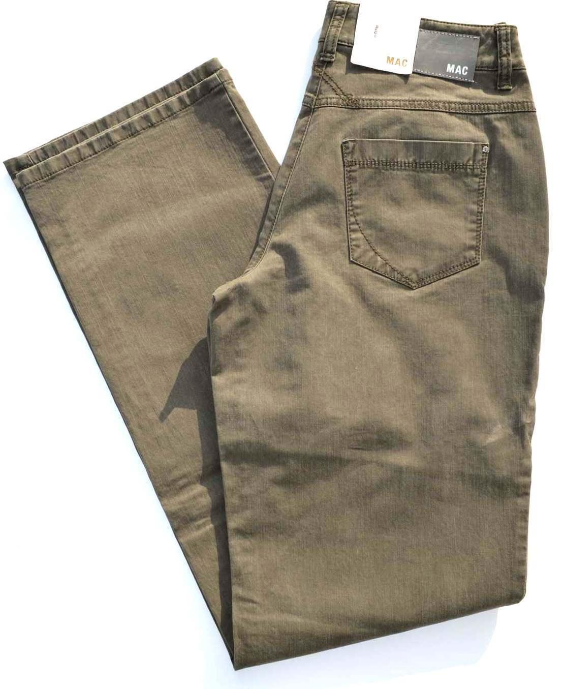 MAC Jeans GRACIA Denim Stretch oliv khaki green comfort loose fit NEU