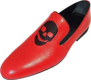 Fancy Chelsy Original Red Skull Italian Designer Slipper Party 58wpqwU