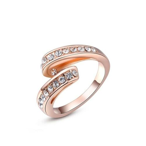 Twisted Crystal Ring - Made With Swarovski Elements - 3 Sizes - New in Gift Box