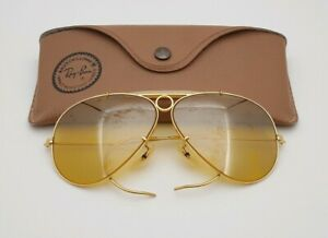 3a1e2a1595 Vintage B L Ray Ban Bausch   Lomb Shooters Full Mirror Ambermatic ...