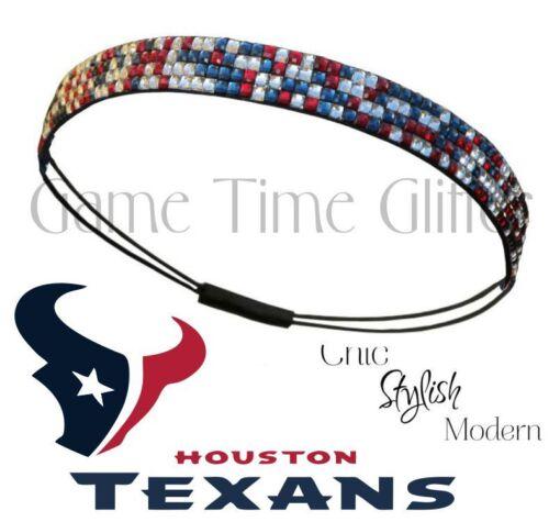 Houston Texans Team Color Womens Rhinestone Bling Headband Wear w// Jersey NWT