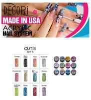 12 Pcs Adoro Color Acrylic Powder Cutie Collection Like Mia Secret Set Spark