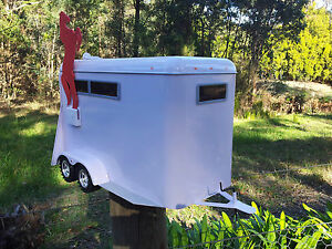 HORSE FLOAT LETTERBOX US style MAIL BOX MAILBOX INDICATOR WHITE NEW