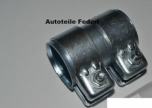 FIAT DACIA PEUGEOT CITRÖN Rohrverbinder Doppelschelle 45,5 x 80 mm LANCIA