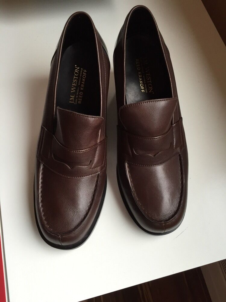 J. M. Weston and Reed Krakoff RK Weston Oxford LOAFERS shoes NIB NEW  850 8.5