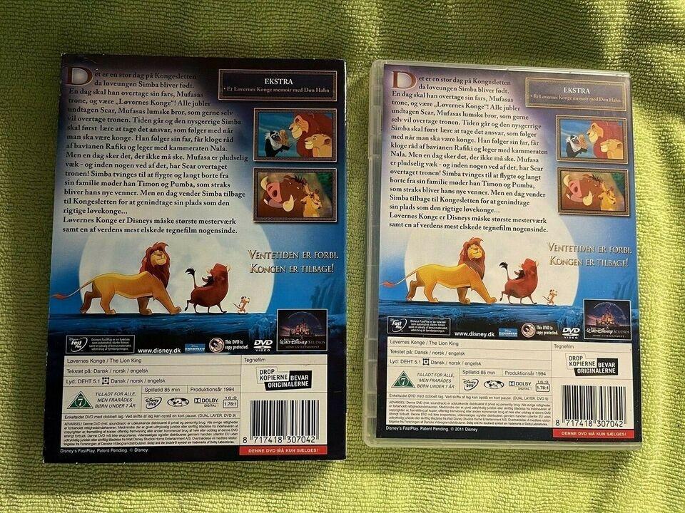 Løvernes konge , DVD, tegnefilm