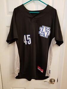 338b66b94b3 Image is loading Notre-Dame-Fighting-Irish-baseball-jersey -official-stitched-