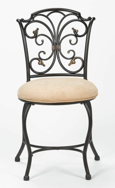 Vanity Chairs For Bathroom Bedroom Furniture Metal Seat Padded Cushion Back S