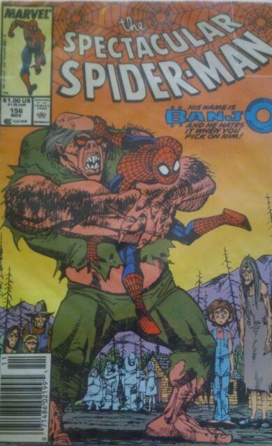 The Spectacular Spider-Man #156 (Nov 1989, Marvel) copper age 8.0/8.5 comic!