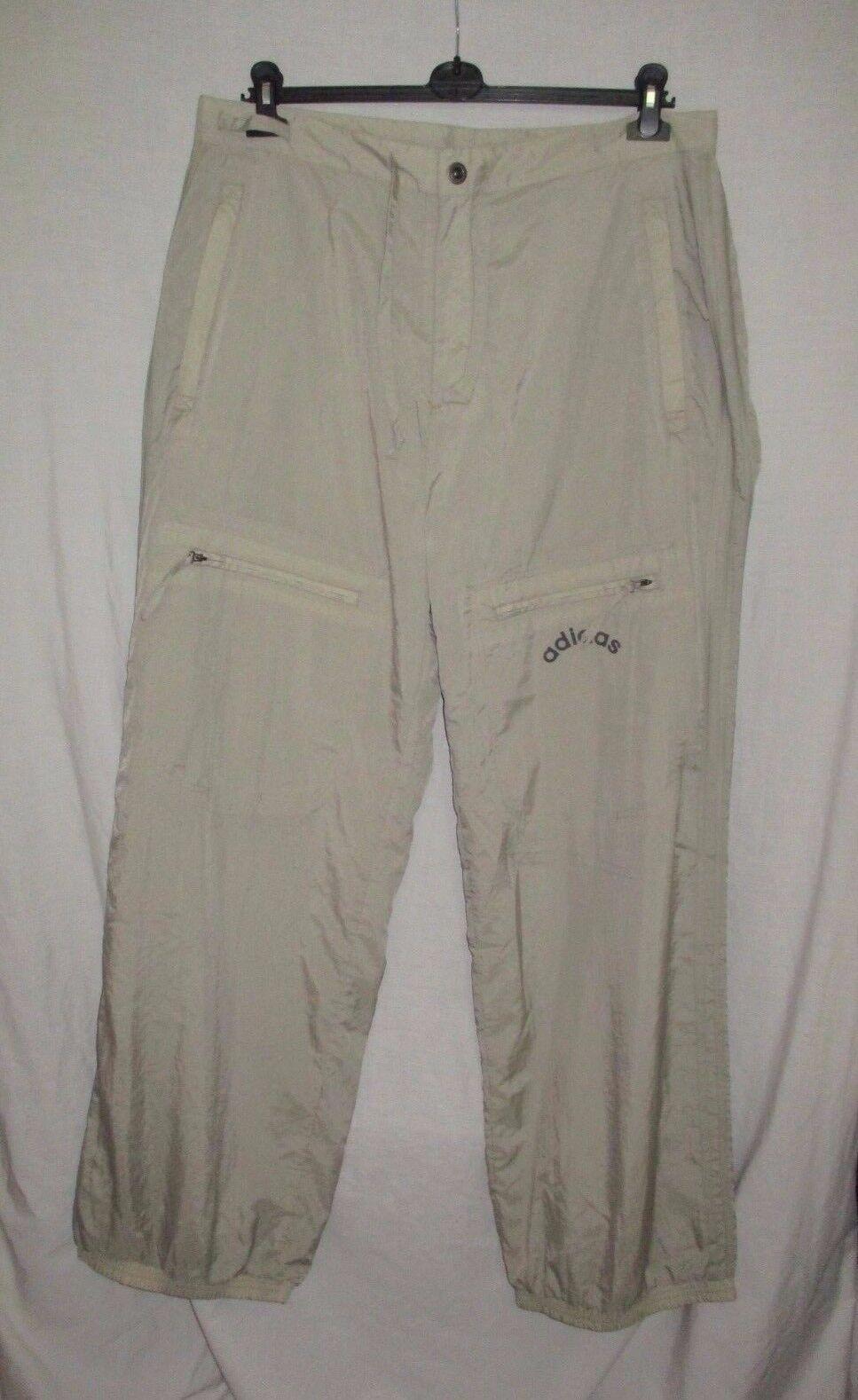 Men's ADIDAS grey sport training walking lightweight nylon pants trousers sz XL