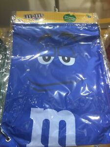 M&M's World Blue Nylon Drawstring Backpack New Sealed