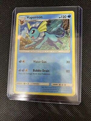 Vaporeon  18//68  holo rare pokemon card hidden fates Mint Pack Fresh