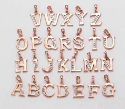 Rose Gold Initial Letter Pendants