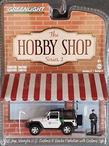 GreenLight-the-hobby-Shop-serie-2-2016-Jeep-Wrangler-us-pulgadas-con-oficial