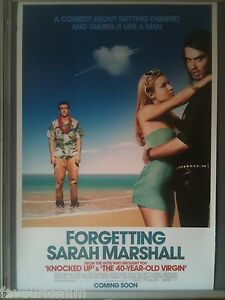 Cinema Poster Forgetting Sarah Marshall 2008 One Russell Brand